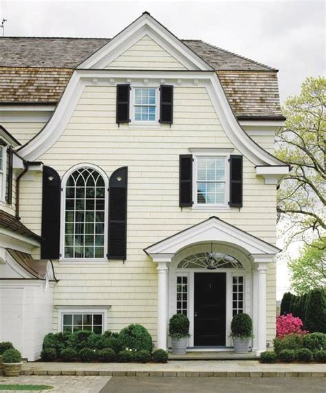 pale yellow house black shutters search exterior paint colors window