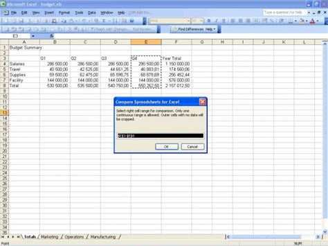 Compare Spreadsheets In Excel by Compare Spreadsheets For Excel