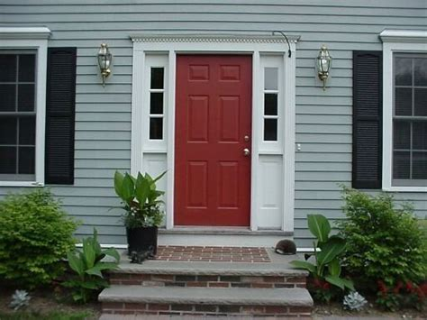 front door colors for gray house i love this front door color totally go with my gray house matches my chairs on the