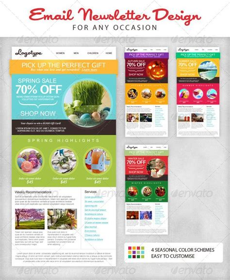 16 best newsletter templates images on pinterest