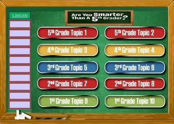 Are You Smarter Than A 5th Grader Powerpoint Template Game For The Classroom Math English Are You Smarter Than A 5th Grader Powerpoint Template