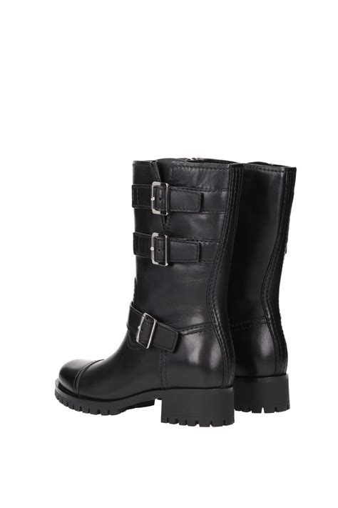 ankle boots prada leather black 3u5914nero ebay