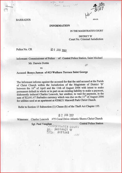 Sle Response Letter Divorce Summons court summons response letter template financial