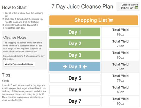 Detox Juices Diet Plan by Juice Cleanse Plan Juice Recipes