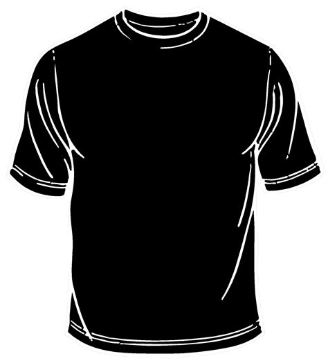 blank black shirt template clipart best
