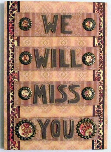 Handmade Goodbye Cards - 29 best images about goodbye cards on