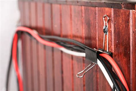 how to organize wires behind how to organize and hide your hanging computer cables