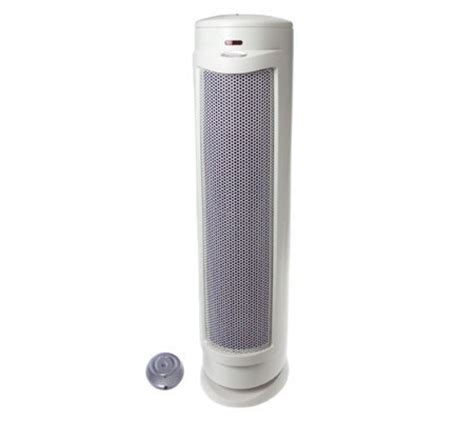 bionaire oscillating tower air purifier with ionizer qvc