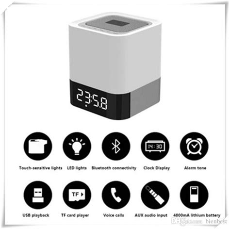 High Quality Musky Dy 28 Bluetooth Speaker Mini Hifi musky dy28 light bluetooth hifi speaker with clock touch