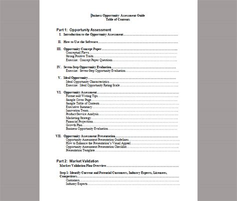 business opportunity assessment template assessment template for business opportunity exle of business opportunity assessment