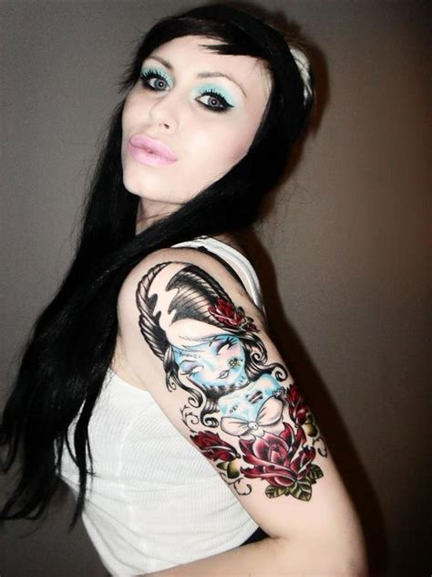 girl tattoo designs on arm best 2015 colorful tattoos endless designs