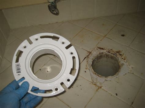 Remove Closet Flange by Broken Plastic Toilet Flange Replacement Guide 015