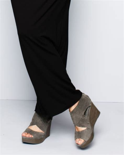 eileen fisher draw suede wedge shoes clothes jewelry