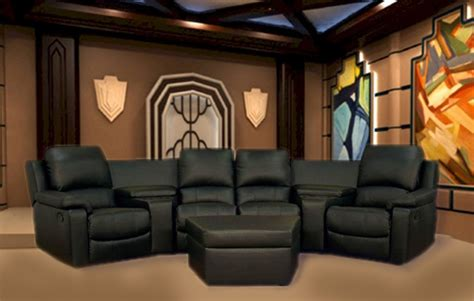 leather theater seating sectionals boden 7 piece black leather theater seating sectional by