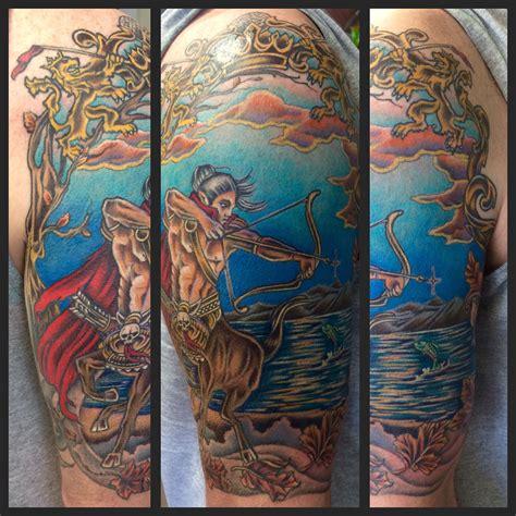 burlington tattoo centaur by amanda the tell tale