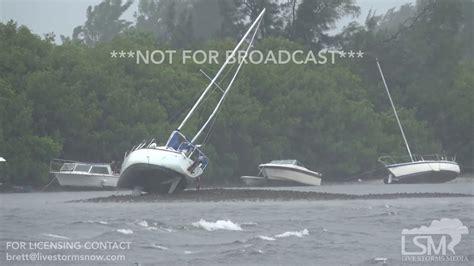 hurricane boats sarasota fl 9 10 17 ta bay fl boats become beached as hurricane