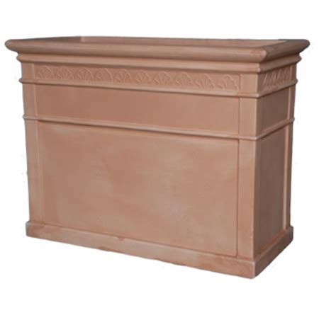 Rectangular Terracotta Planters by Armeria Cassetta Alta Fiorita Large Rectangular Planter