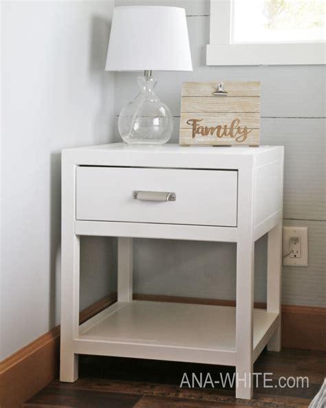 Bedside Desk by White Simple Modern Bedside Table Diy Projects