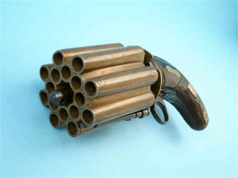 sixteen shot percussion pepperbox pistol by m cerwenka