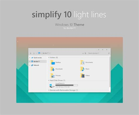 themes for windows 10 1709 simplify 10 light lines windows 10 theme by dpcdpc11 on