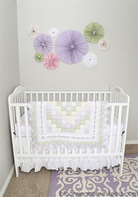 Bow Curtains Nursery Blooming Homestead