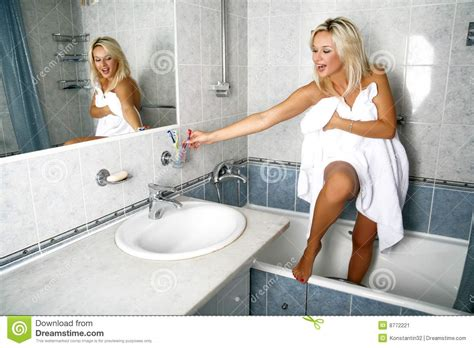 video of girl in bathroom girl in bathroom stock image image 8772221