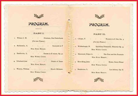 Graduation Program Template Graduation Program Template Graduation Program Template