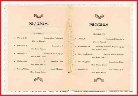 graduation ceremony program template graduation program template sop exles