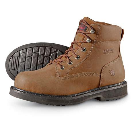 wolverine durashock boots s wolverine 174 6 quot durashocks 174 work boots brown