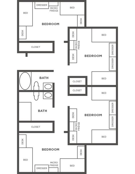 Apartments Floor Plans Design by Conference Services Usc Housing
