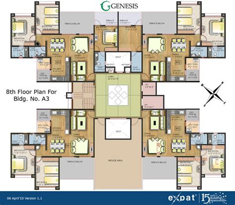 Apartment Floor Plan by Expat Properties I Ltd Genesis Alandi Pune
