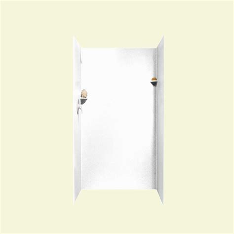 Shower Door Adhesive Swan 36 In X 36 In X 72 In 3 Easy Up Adhesive Shower Wall Kit In White Sk 363672 010