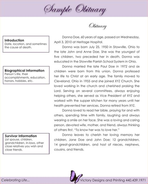 8 obituary exles academic resume template