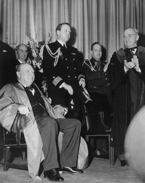 winston churchill iron curtain speech truman library photograph president truman at churchill s