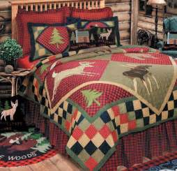 Quilt Or Coverlet Lodge Deer Cabin 7pc Queen Quilt Set Bear Fish Lodge