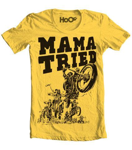 mama tried tattoo handscreened tried vintage tshirt print by pill on
