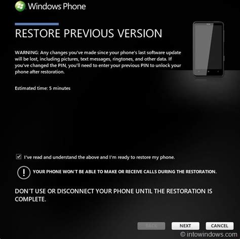 reset android to previous version how to restore windows phone 7 software to an earlier version