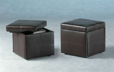 Storage Stool by Servia Faux Leather Storage Stool