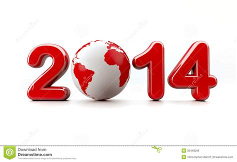 new year 2014 logo royalty free stock images image 35448299