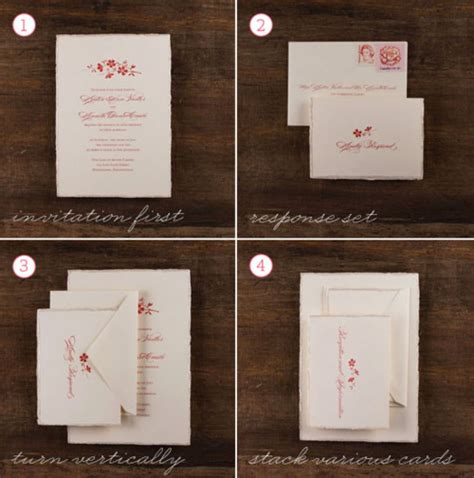 merry brides how to assemble a wedding invitation