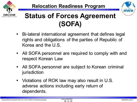 status of forces agreement sofa relocation readiness program ppt video online download