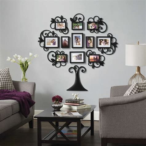 family tree collage photo picture frame set black home