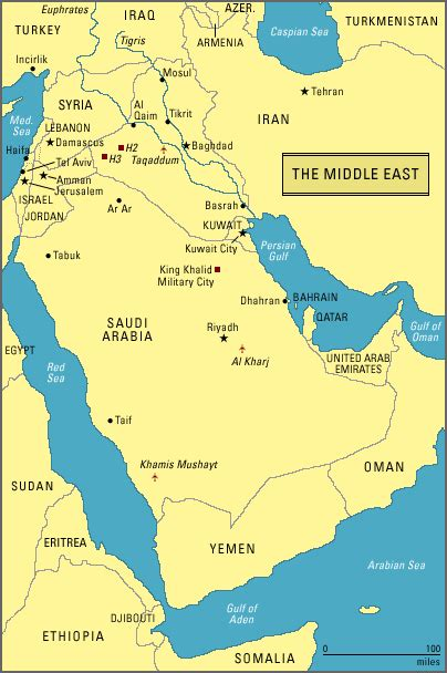 middle east map gulf maps overview of the middle east the gulf war