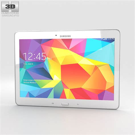 Second Samsung Galaxy Tab 4 10 Inch samsung galaxy tab 4 10 1 inch lte white 3d model hum3d