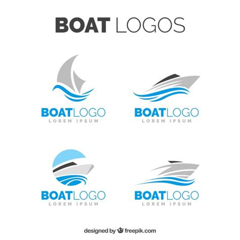 boat clipart logo selection of boat logos in minimalist design vector free