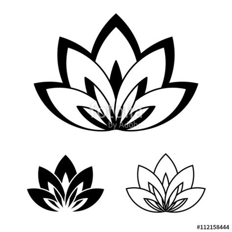 flower tattoo vector free lotus flower vector clipart best