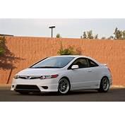 Honda Civic Si White Coupe 8thgen Enkei Rpf1  Rides &amp Styling