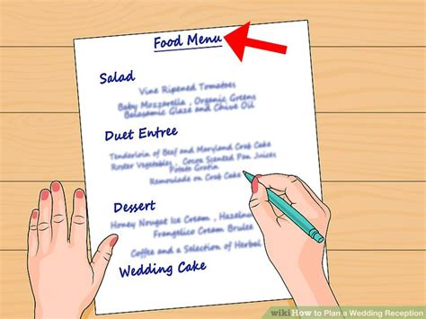 Wedding Planning Reception by How To Plan A Wedding Reception 13 Steps With Pictures