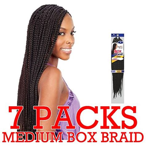 box braid hair pack freetress medium box braids shake n go crochet latch hook