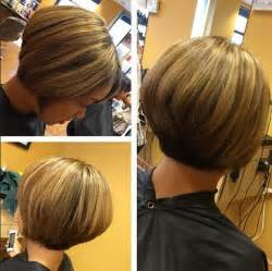 layer thick hair for ashort bob chic short haircut for women the stacked bob cut hairstyles weekly